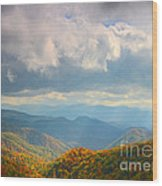 Autumn Storm Over The Great Smoky Mountains National Park Wood Print