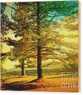 Autumn Stroll Wood Print