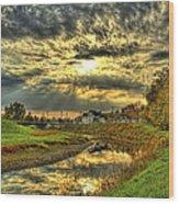 Autumn Sunset Reflection Wood Print by Jim Lepard