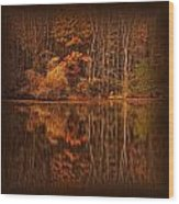 Autumn Tapestry Square Wood Print