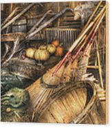 Autumn - This Years Harvest Wood Print by Mike Savad