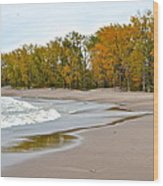 Autumn Tides Wood Print