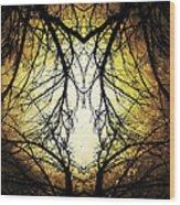 Autumn Tree Veins Wood Print