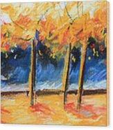 Autumn Trees Wood Print
