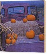 Autumn Truck Wood Print