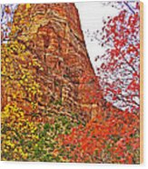 Autumn View Along Zion Canyon Scenic Drive In Zion National Park-utah Wood Print