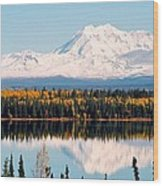 Autumn View Of Mt. Drum - Alaska Wood Print