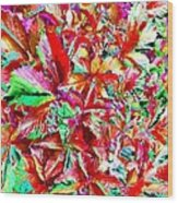 Autumn Virginia Creeper Wood Print