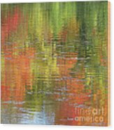 Autumn Water Colors Wood Print