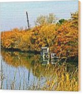 Autumn Weekend On The Delta Wood Print