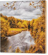 Autumn White Mountains Maine Wood Print