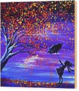 Autumn Wind Wood Print by Ann Marie Bone