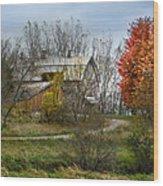 Autumn Winding Down Wood Print