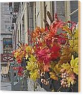Autumn Window Box Wood Print