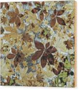 Autumnal Leaves Wood Print