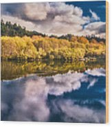 Autumnal Reflections Wood Print