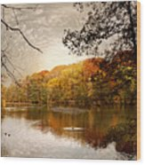 Autumn's Adieu Wood Print