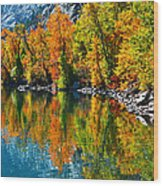 Autumn's Beauty Reflected Wood Print