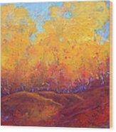 Autumn's Blaze Wood Print
