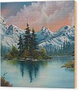 Autumn's Glow Wood Print by C Steele
