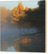 Autumn's Mist Wood Print