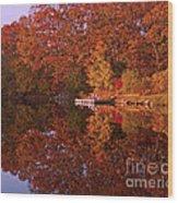 Autumn's Reflection Wood Print