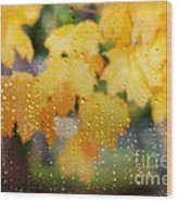 Autumns Tears Wood Print
