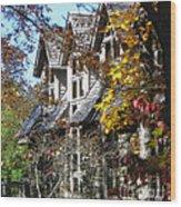 Autumn's Windows Wood Print