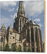 Autun Cathedral View Burgundy Wood Print