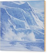 Avalanche At A Distance Wood Print