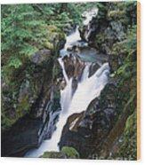 Avalanche Creek Wood Print