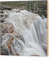 Avalanche Falls - White Mountains New Hampshire Usa Wood Print