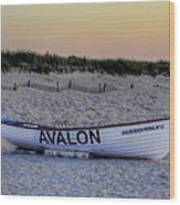 Avalon Lifeboat Wood Print