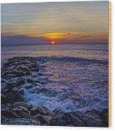 Avalon New Jersey Sunrise Wood Print