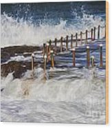 Avalon Rockpool In A Storm Wood Print