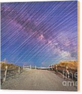 Avalon Star Trails  Wood Print