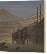 Ave Caesar Morituri Te Salutant , 1859 Wood Print