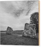 Avebury Stones Wood Print