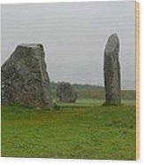 Avebury's Cove Stones Wood Print