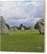 Avebury's Southern Entrance Stones Wood Print