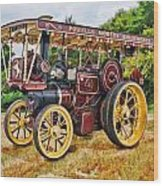 Aveling And Porter Showmans Tractor Wood Print