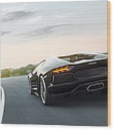 Aventador At Its Height Wood Print