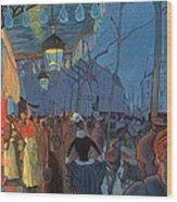 Avenue De Clichy Paris Wood Print