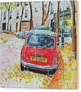 Avenue Junot In Autumn Wood Print