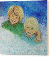 Avery And Atley Angels Of Brotherly Love Wood Print