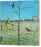 Aves En Comarca Del Sol Wood Print