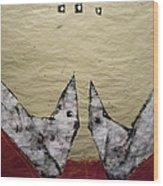 Aves Et Stellas Wood Print