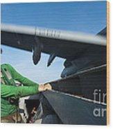 Aviation Boatswains Mate Ducks As An Wood Print
