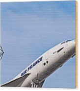 Aviation Icons - Air France Concorde Wood Print