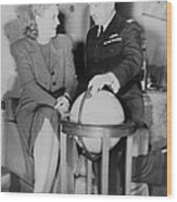 Aviator Jacqueline Cochran With Capt Wood Print